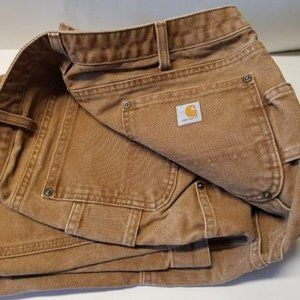 Carhartt Relaxed Fit Sandstone Kane Dungararee 12T